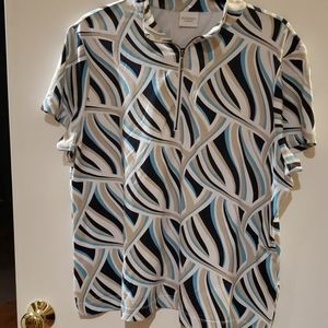 Weekends  by CHICO'S   printed blouse size 3